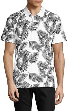 AG Adriano Goldschmied Men's Printed Short-Sleeve Polo