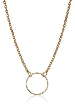 Alpha A A 18 Gold Tone Open Circle Womens Fashion Necklace