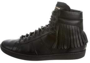 Saint Laurent SL/18H Leather Sneakers