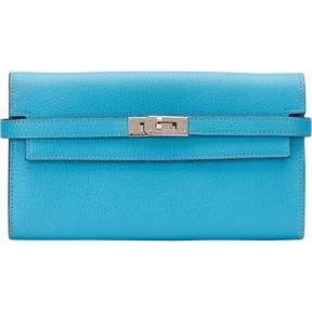 Hermes Kelly leather wallet - BLUE - STYLE