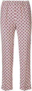 Alberto Biani floral print cropped trousers