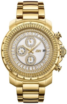 JBW Titus Mother Of Pearl Dial Men's Gold Tone Diamond Watch