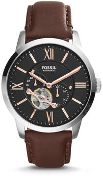 Fossil Townsman Automatic Leather Watch - Brown