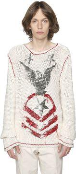 Embroidered Linen & Silk Blend Sweater