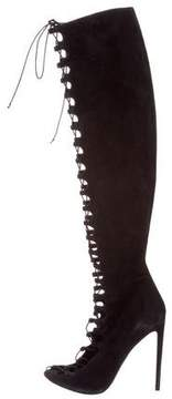 Giambattista Valli Lace-Tie Over-The-Knee Boots