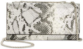INC International Concepts I.n.c. Glam Metallic Python-Embossed Crossbody Wallet