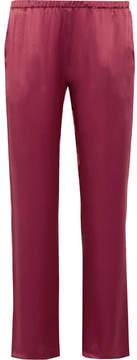 Carine Gilson Silk-satin Pajama Pants - Burgundy