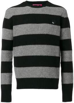 McQ swallow badge striped pullover