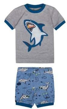 Petit Lem Little Boy's Two-Piece Shark Week Short Pajamas