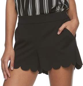 Candies Juniors' Candie's Scalloped Pull-On Shorts