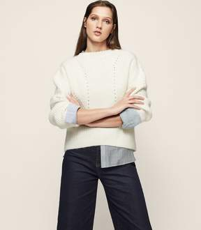 Reiss Meagan Ribbed Crew-Neck Jumper