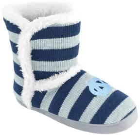 NCAA Women's North Carolina Tar Heels Striped Boot Slippers