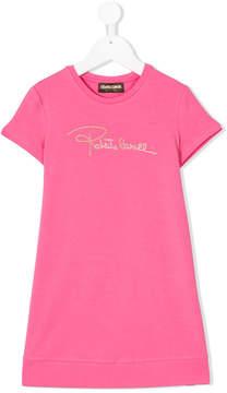 Roberto Cavalli logo T-shirt dress
