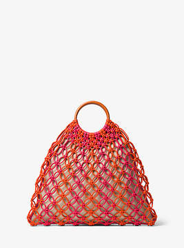 Michael Kors Cooper Woven Leather Tote - RED - STYLE