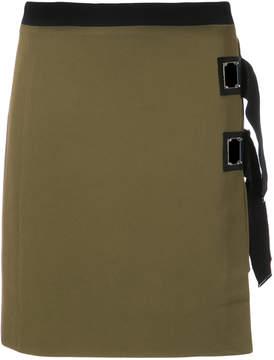 David Koma strap detail skirt