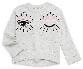 Kenzo Toddler's, Little Girl's & Girl's Hi-Lo Eye Sweater