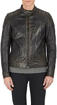 Belstaff Men's Leather Moto Racer Jacket