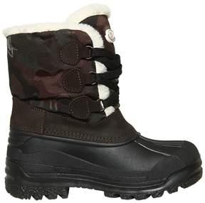 Moncler Camo & Suede Waterproof Snow Boots