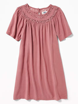 Old Navy Lace-Trim Swing Dress for Girls