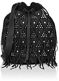 Jerome Dreyfuss WOMEN'S POPEYE LARGE LEATHER & SUEDE BUCKET BAG-BLACK