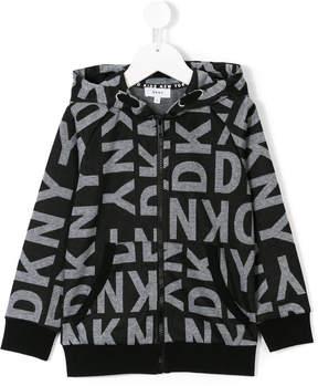 DKNY printed hooded jacket