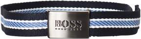 BOSS Navy Canvas Branded Belt