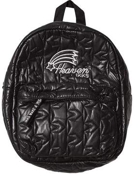 Ikks Black Quilted Backpack with Ears