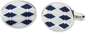 Asstd National Brand Blue and White Enamel Cuff Links
