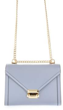 MICHAEL Michael Kors Light Blue Whitney Shoulder Bag In Leather