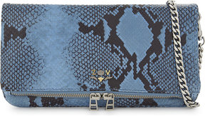 Zadig & Voltaire Rock Wild croc-embossed clutch bag