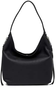 Rebecca Minkoff Medium Bryn Double Zip Leather Hobo Bag - BLACK - STYLE
