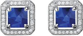 Crislu Platinum Plated Cz Drop Earrings
