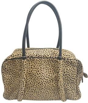 Alaia Beige Pony-style calfskin Handbag