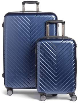 Nordstrom Chevron 29-Inch & 20-Inch Spinner Luggage Set - Blue