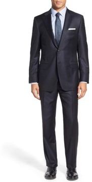 Hickey Freeman Men's Classic B Fit Solid Wool Suit