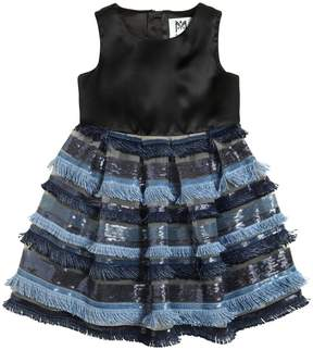 Milly Minis Duchesse & Stretch Tulle Dress W/Sequins