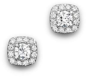 Bloomingdale's Diamond Square Halo Stud Earrings in 14K White Gold, .50 ct. t.w. - 100% Exclusive