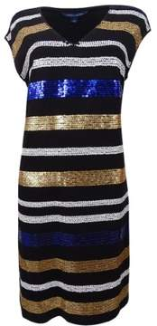 Tommy Hilfiger Women's Fay Sequined Dress (M, Black)