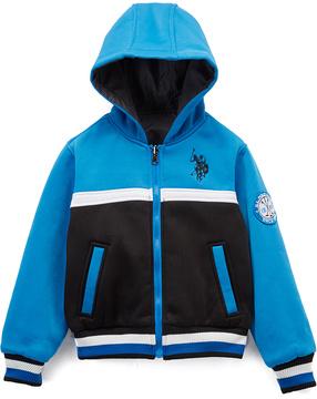 U.S. Polo Assn. Heather Gray Reversible Zip-Up Puffer Coat - Boys
