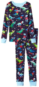 Hatley Winter Sports T-Rex Long Sleeve Pajama Set Boy's Pajama Sets