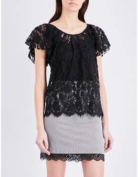 Claudie Pierlot Tonight floral lace top