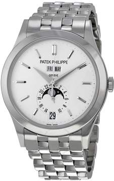 Patek Philippe Complications Silvery Opaline Dial White Gold Men's Watch