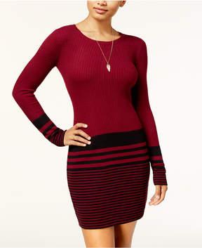 BCX Juniors' Striped Bodycon Sweater Dress