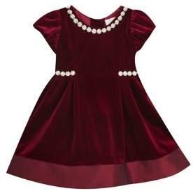 Rare Editions Baby Girl's Velvet Dress