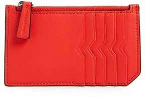 Women's Mackage Taj Leather Card Case - Red