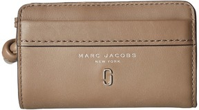 Marc Jacobs Tied Up Compact Wallet Wallet Handbags - MUSHROOM - STYLE