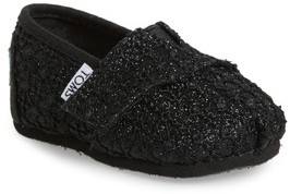 Toms Infant Girl's Classic Alpargata Lace Glimmer Slip-On