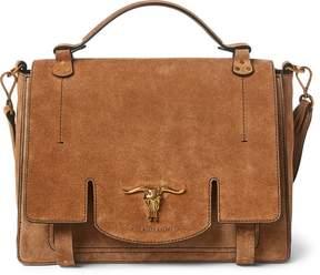 Ralph Lauren Suede Schooly Bag