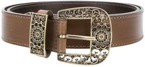 Alberta Ferretti engraved-buckle belt