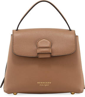 Burberry Calf Leather Satchel Bag, Sand